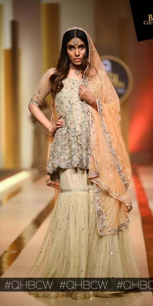 AYESHA AND USMAN WAMAR. QMOBILE HUM BRIDAL COUTURE WEEK (QHBCW) 2017 DAY 2 (5)