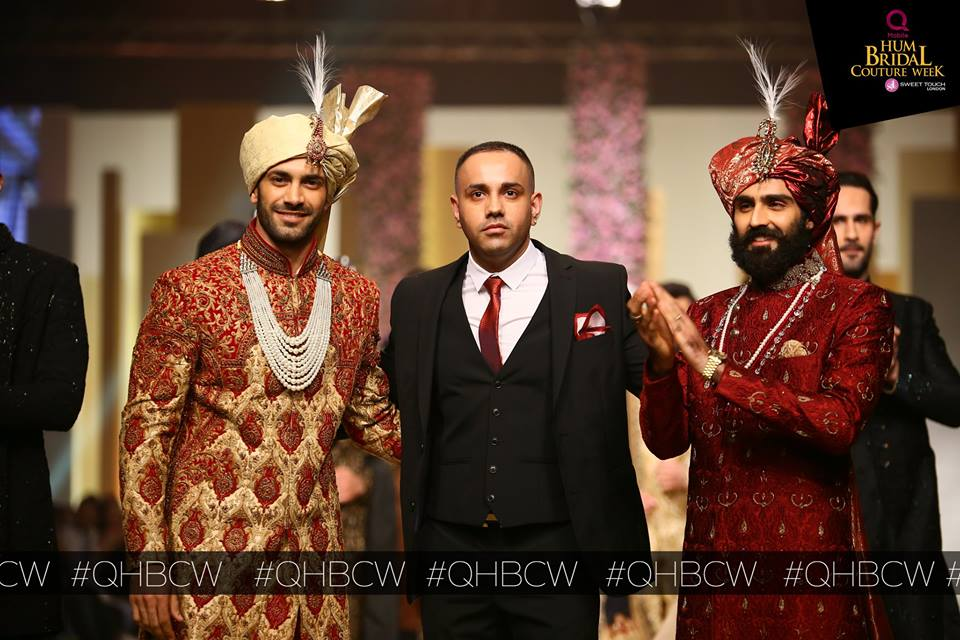 ahsans menswear collection qmobile bridal couture week qhbcw