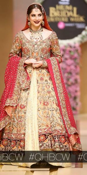 Annus Abrar-QMOBILE HUM TV BRIDAL COUTURE WEEK (QHBCW) 2017 DAY 3 (8)