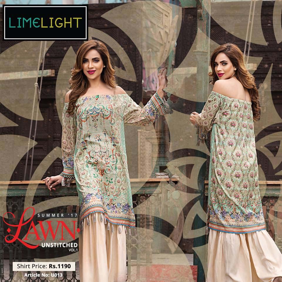 7e6b46356b3 LimeLight Latest Summer Lawn Dresses 2017-18