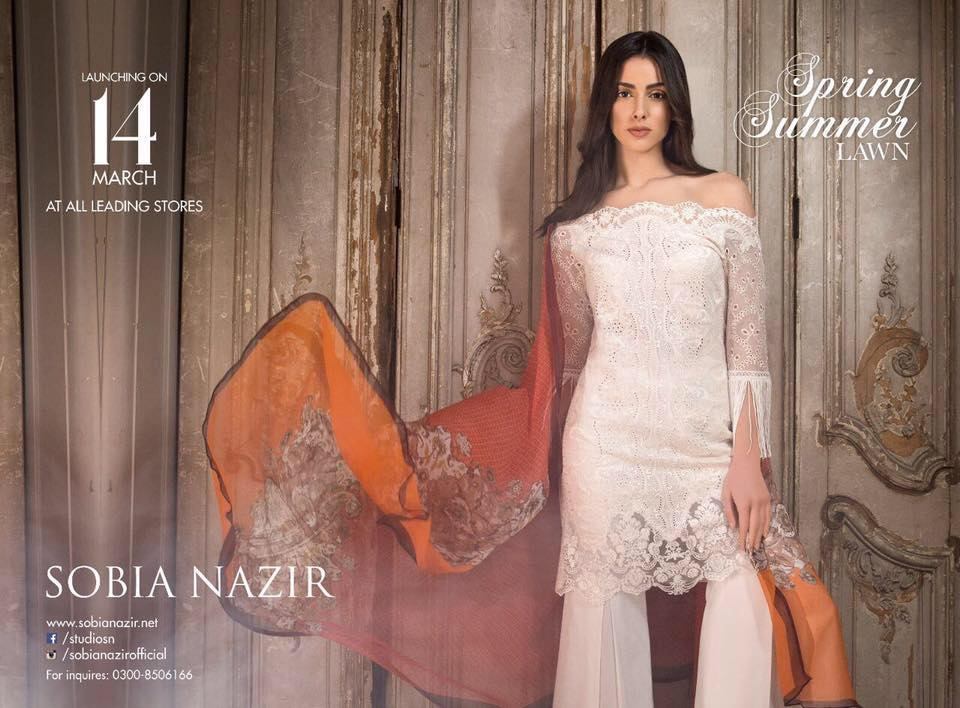 Sobia Nazir Spring Summer Lawn Dresses 2017-18 Latest Collection