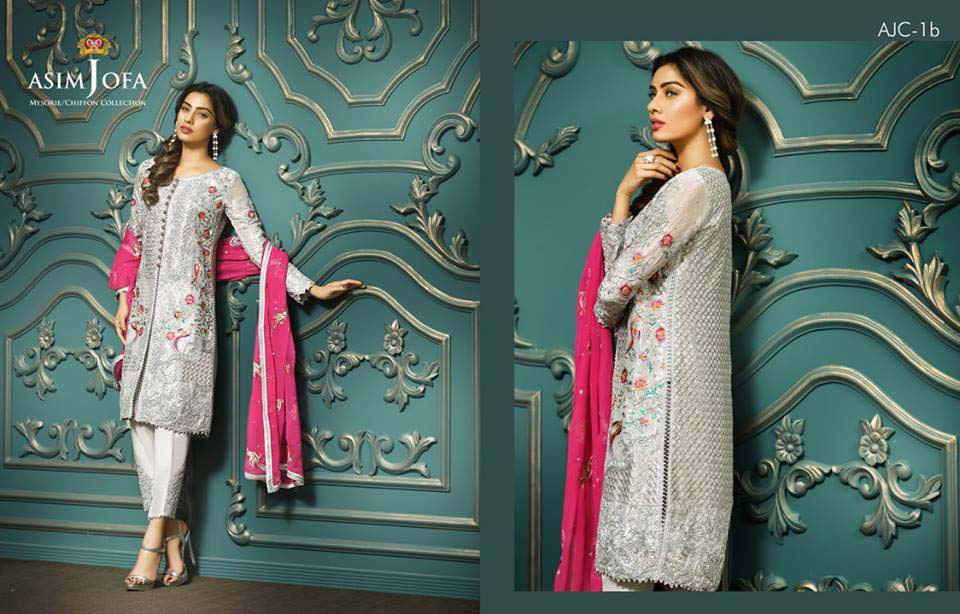 Embroidered Dresses by Asim Jofa