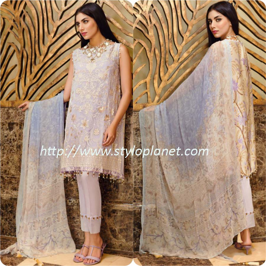 Khaadi Luxury Embroidered Eid Collection 2017-18