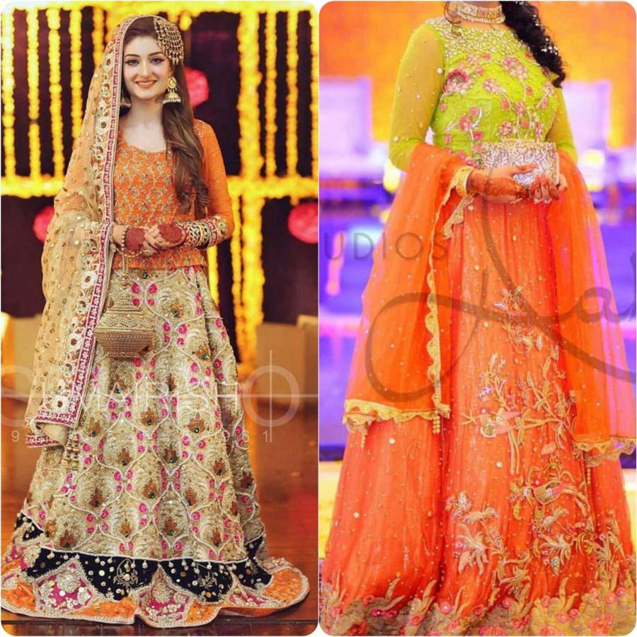 Bridal Mehndi 2017 : Latest bridal mehndi dresses collection stylo planet