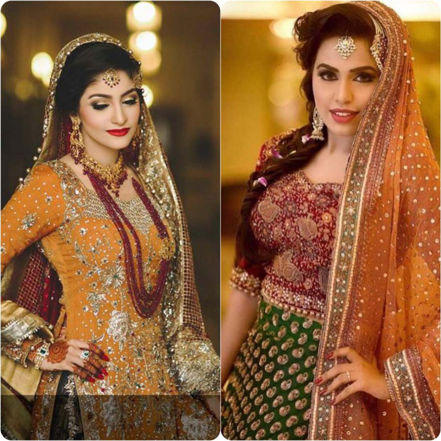 Mehndi Outfits 2017 : Latest bridal mehndi dresses collection stylo planet