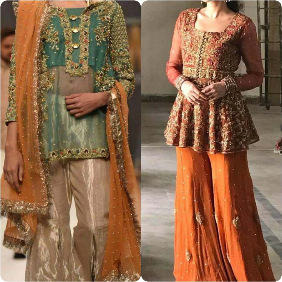 Bridal Mehndi Dresses 2017