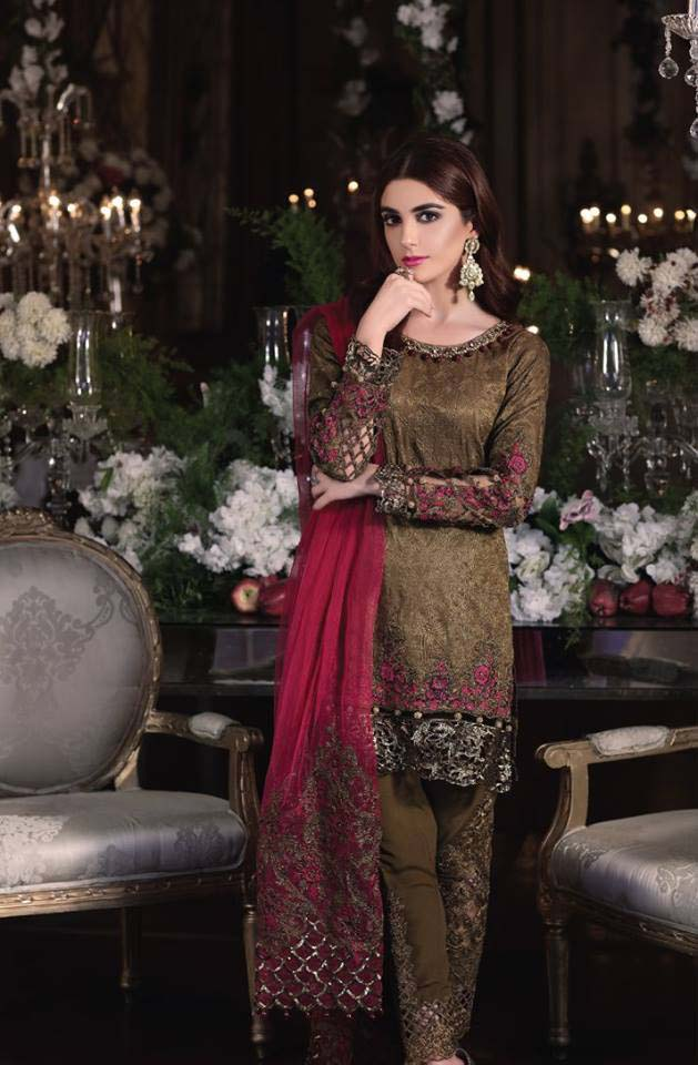 e3b1f01ae Maria.b Embroidered Collection 2017 · Alkaram Latest Eid Dresses Collection  ...