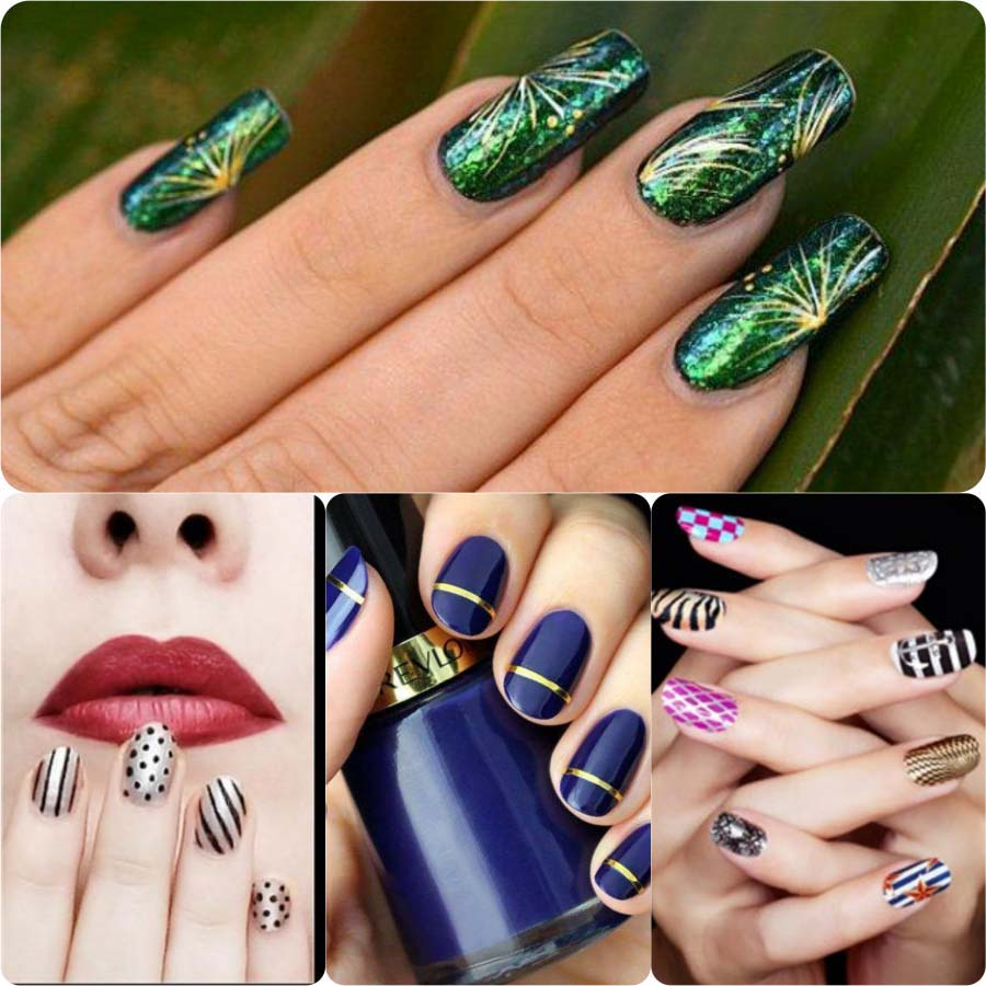 Beautiful Classy Eid Nail Paint Designs and Colors for Girls 2017-18