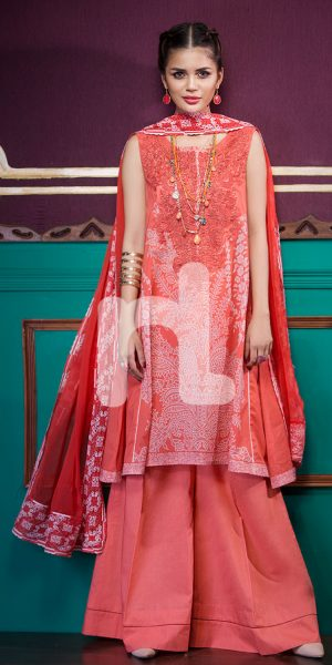 Nishat Linen Printed and Embroidered Eid Dresses Collection 2017-18 (17)