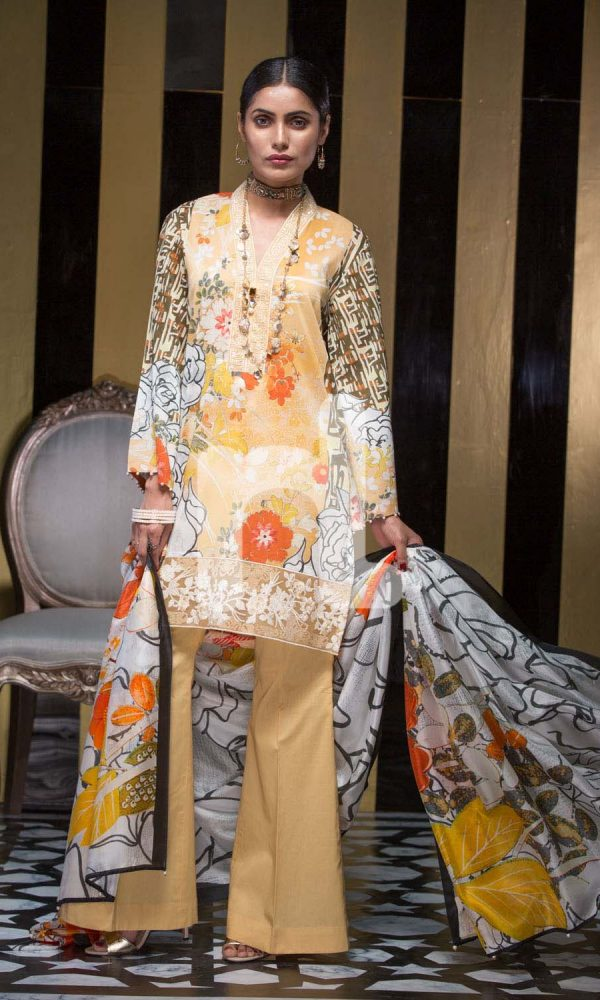Nishat Linen Printed and Embroidered Eid Dresses Collection 2017-18 (6)