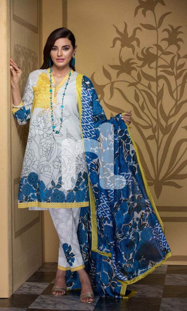 Nishat Linen Printed and Embroidered Eid Dresses Collection 2017-18 (9)