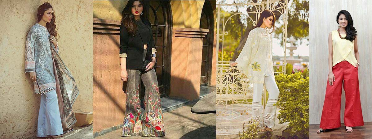 Latest Pakistani Bootcut Pant/Trousers Designs and Trends 2017-2018