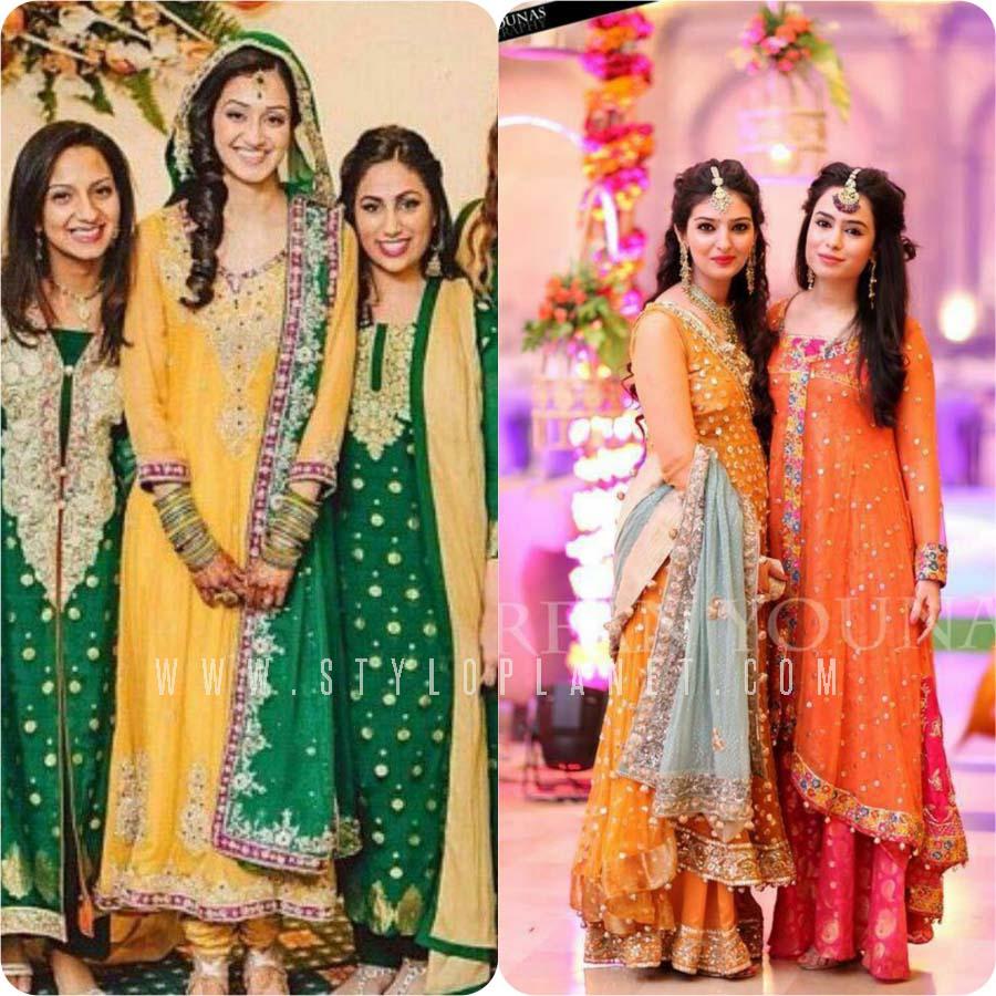 Best Pakistani Bridal Mehndi Dresses - raveitsafe