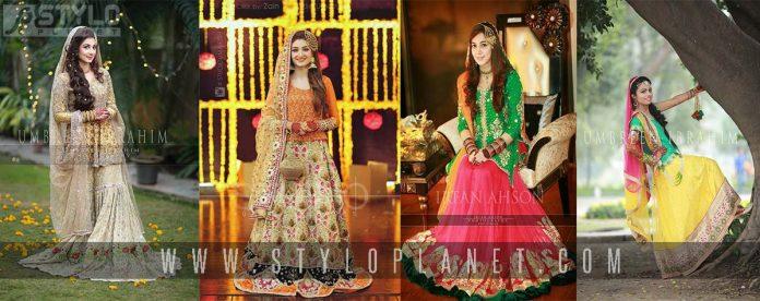 Pakistani Bridal Mehndi Dresses For Brides