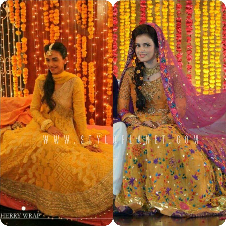 694ff04a41 Pakistani Bridal Mehndi Dresses for Brides | Stylo Planet