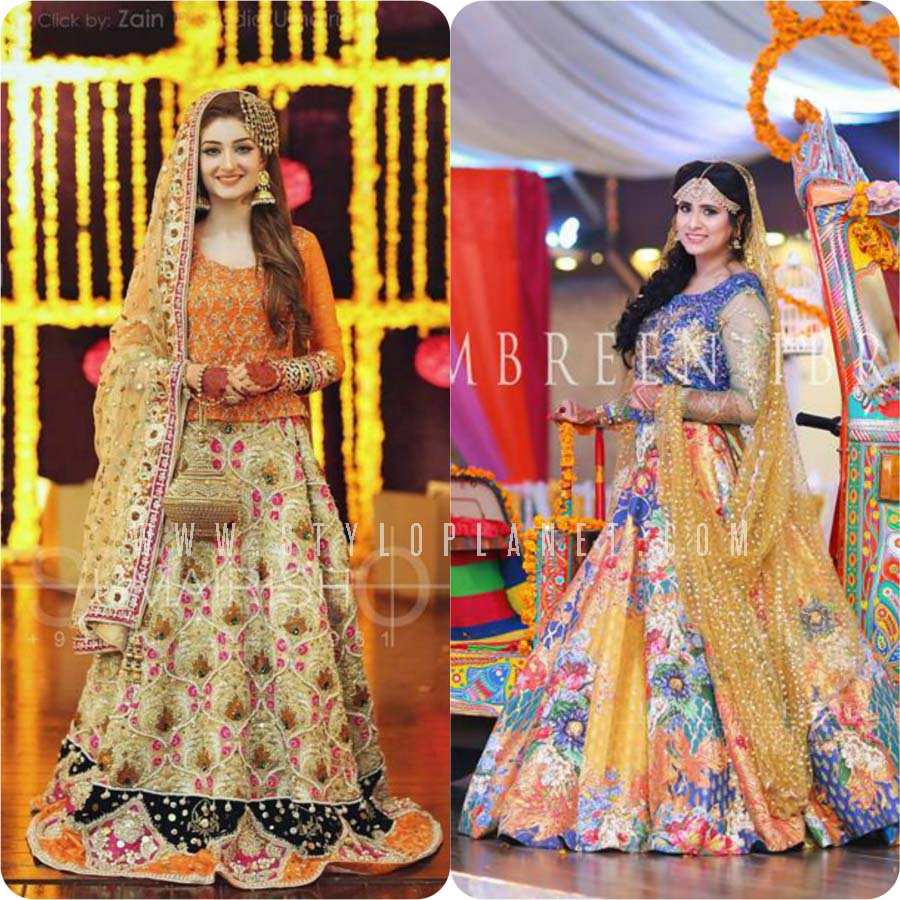 ecfbe0fc72 So here we are going to post Unique Bridal Mehndi Dresses Design Collection  2017-18 for Pakistani Weddings. These all are by famous designers and  captured ...