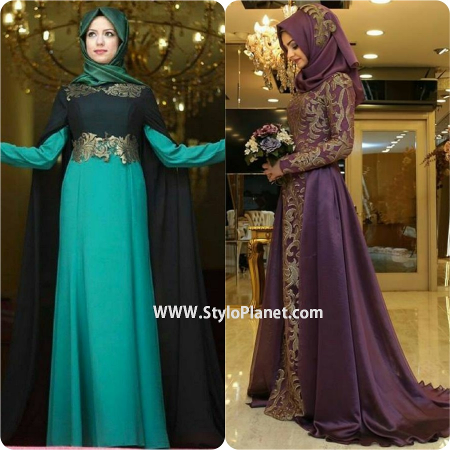 Fancy Lace Abaya Designs 2017
