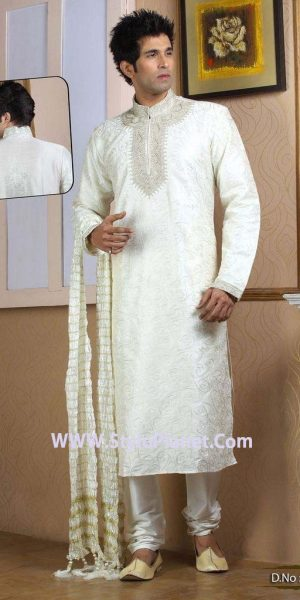 Latest Men Mehndi Dresses Shalwar Kameez and Kurta Designs 2017-2018 (12)