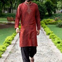 Latest Men Mehndi Dresses Shalwar Kameez and Kurta Designs 2017-2018 (6)