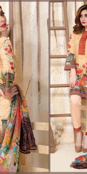 DLS Din LifeStyle Premium Winter Cambric Dresses Collection 2017-2018 (1)