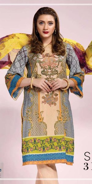DLS Din LifeStyle Winter Cambric Kurtis Collection 2017-2018 (4)