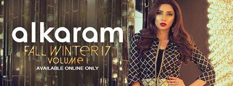 Alkaram Autumn Winter 2017-18 Embroidered Two Piece and Three Piece Collection