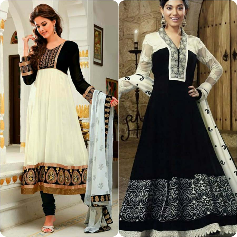 Latest Fashion Of Pakistani And Indian Anarkali Frocks And