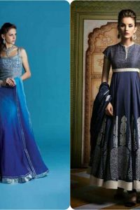 Latest Fashion of Pakistani and Indian Anarkali Frocks and Suits 2018-2019 (13)