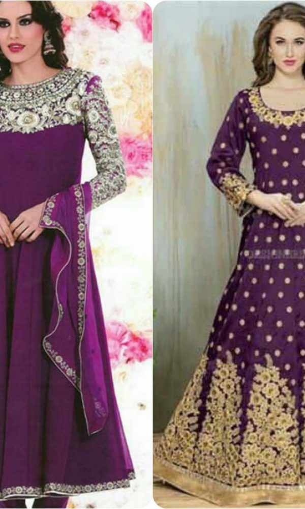 Latest Fashion of Pakistani and Indian Anarkali Frocks and Suits 2018-2019 (2)