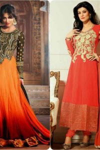 Latest Fashion of Pakistani and Indian Anarkali Frocks and Suits 2018-2019 (20)