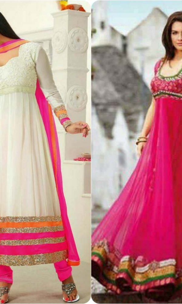 Latest Fashion of Pakistani and Indian Anarkali Frocks and Suits 2018-2019 (4)