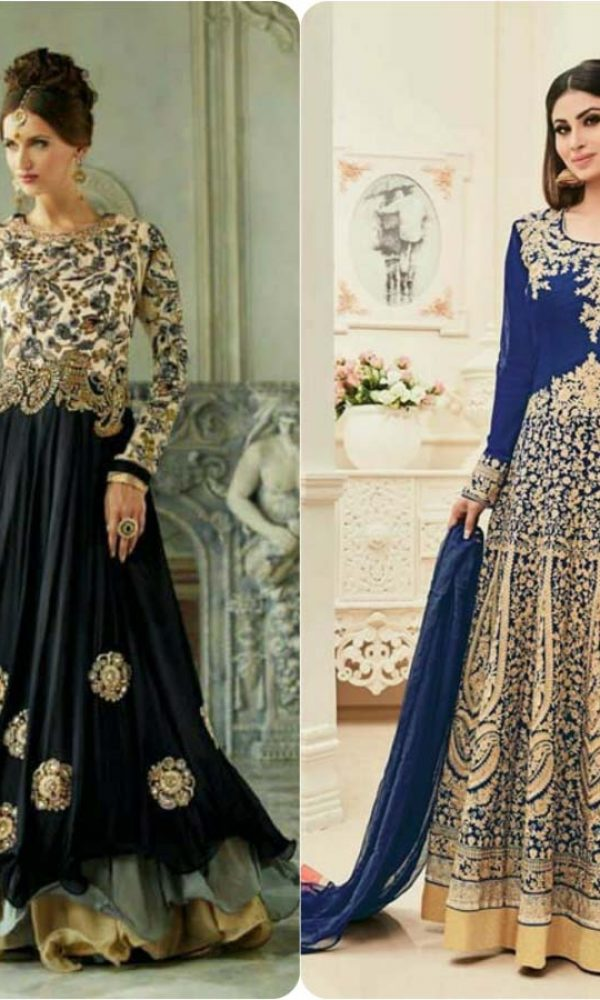 Latest Fashion of Pakistani and Indian Anarkali Frocks and Suits 2018-2019 (9)