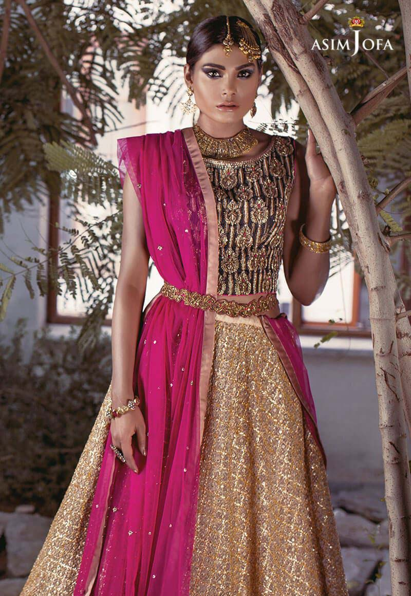 6ac3393002f Latest Bridal Dresses Designs by Asim Jofa 2018 are full of creativity and  designing. If we see the wedding outfits