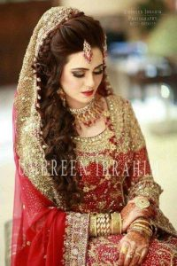 Latet Pakistani Bridals Hairstyle Ideas & Jwelery Designs 2018-2019 (1)