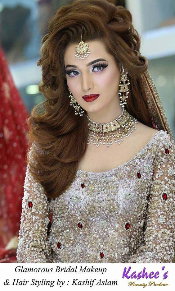 Latest Pakistani Bridals Hairstyle Ideas & Jewelry Designs 2018-2019