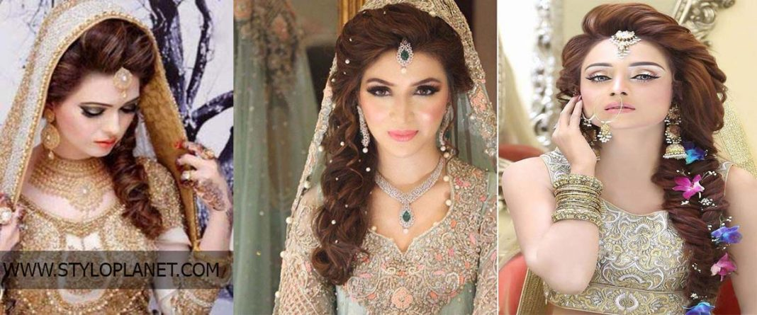 Latest Pakistani Bridals Hairstyle Ideas Jewelry Designs 2018 2019 Stylo Planet