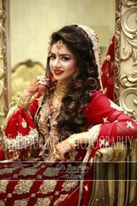 Latet Pakistani Bridals Hairstyle Ideas & Jwelery Designs 2018-2019 (6)