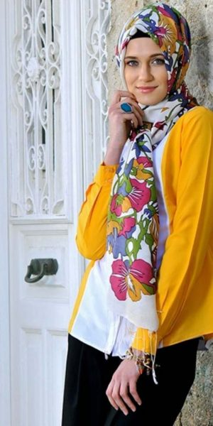 Floral Hijab Style (1)
