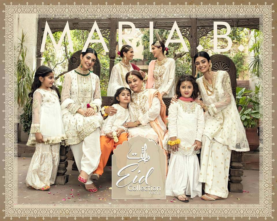 Maria.B Virasat Eid Collection And Mbroidered Eid Catalog 2018-2019