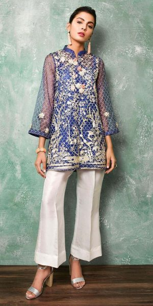 Cross Stitch Best designers Eid Lawn Dresses 2018 (2)