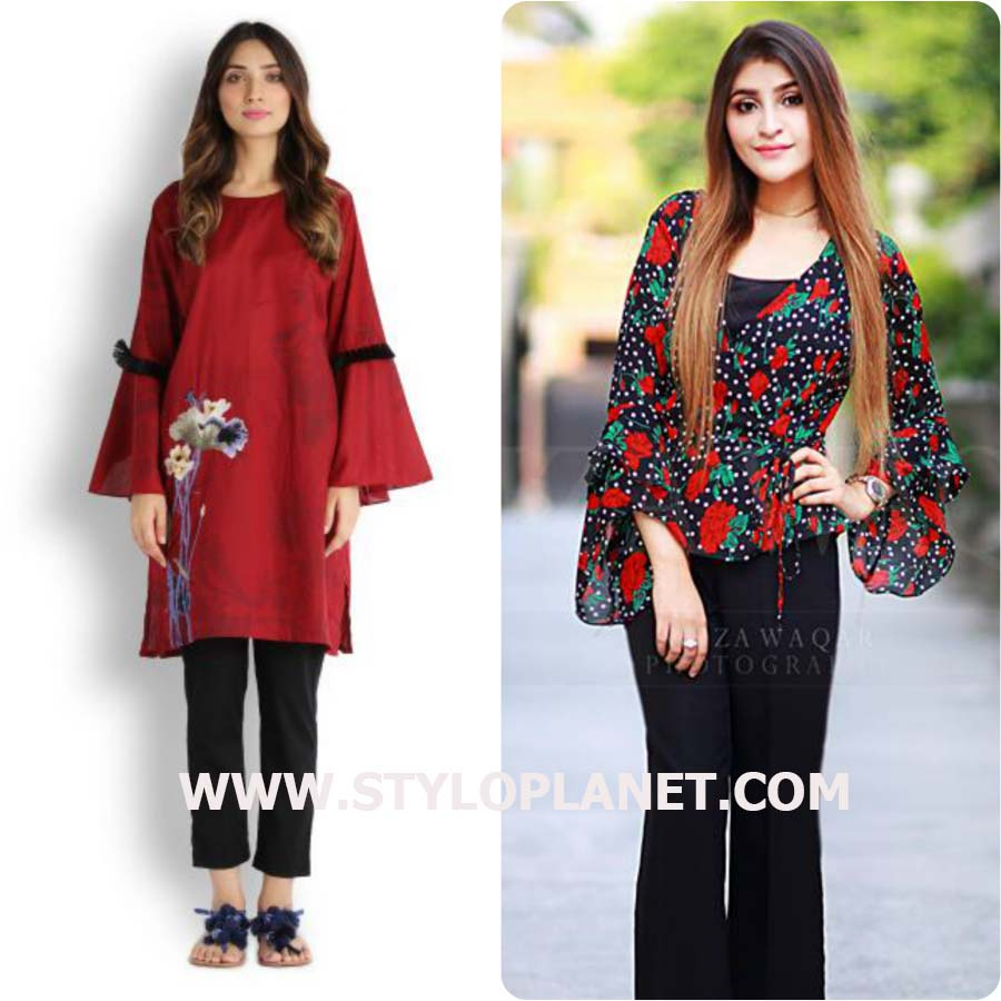 9d6f0b775ee Latest Style of Bell Sleeves Dresses Designs