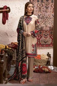 CROSS STITCH WINTER COTTON SATIN EMBROIDERED COLLECTION 2018-2019 (16)