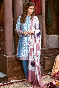 CROSS STITCH WINTER COTTON SATIN EMBROIDERED COLLECTION 2018-2019 (19)