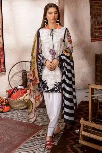CROSS STITCH WINTER COTTON SATIN EMBROIDERED COLLECTION 2018-2019 (3)