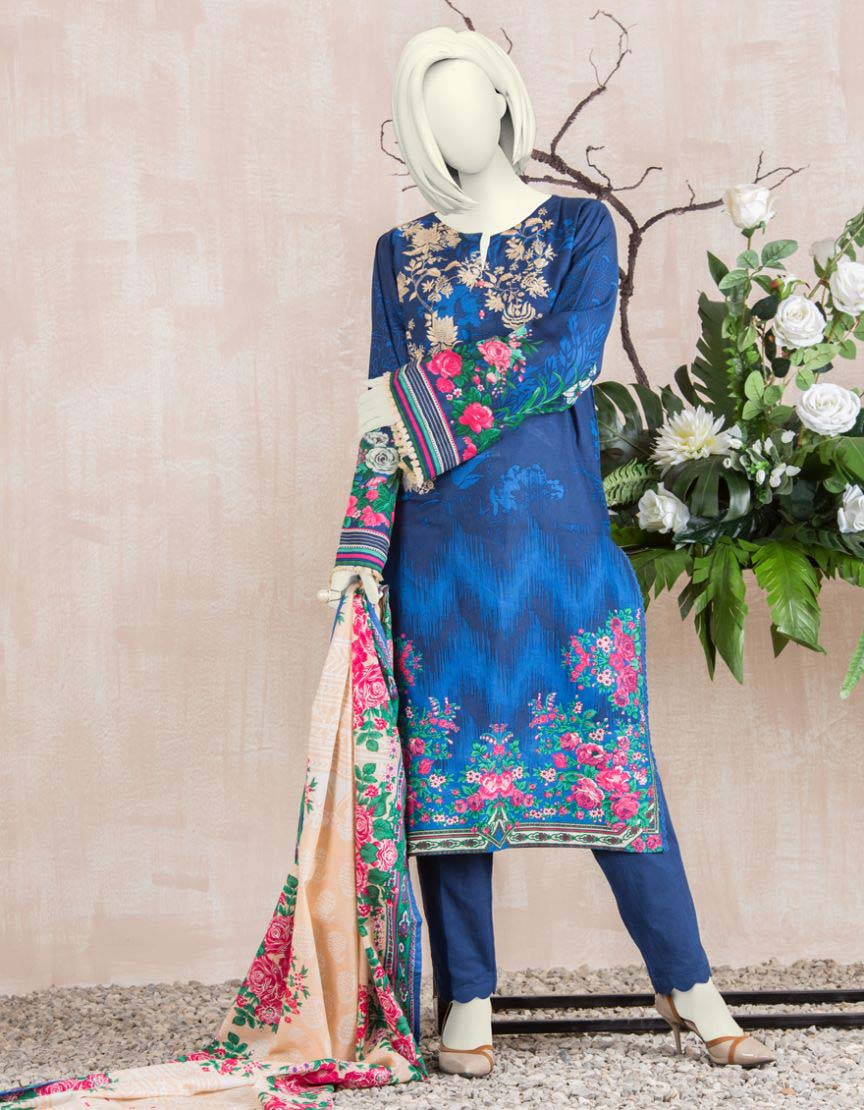 JUNAID JAMSHED PRE WINTER THREE PIECE UNSTITCHED COLLECTION 2018-2019
