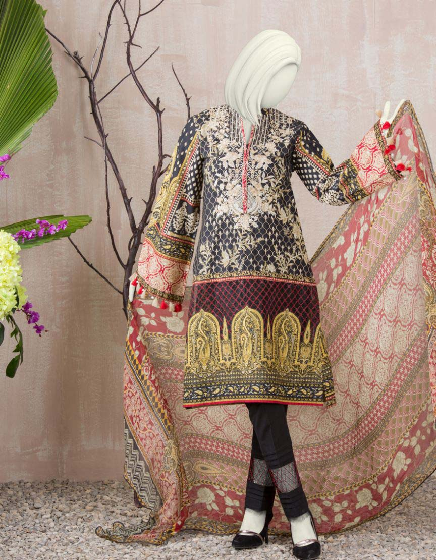 Juniad Jamshed Three piece Unstitched Collection