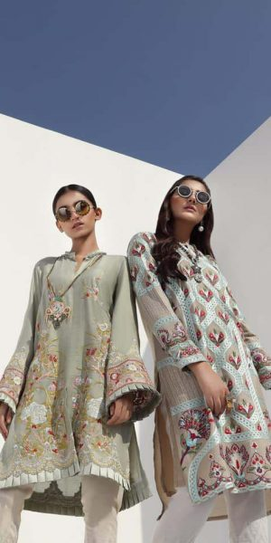 Sana Safinaz Latest Ready To Wear Summer Dresses Collection 2019 (1)