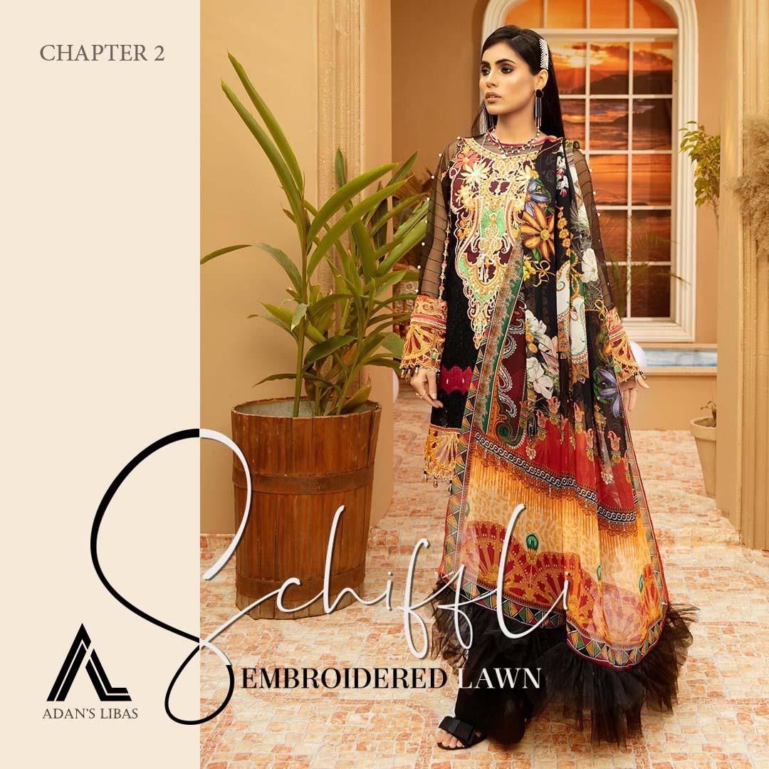 Adan's Libas Latest Summer Lawn Dresses Collection 2021