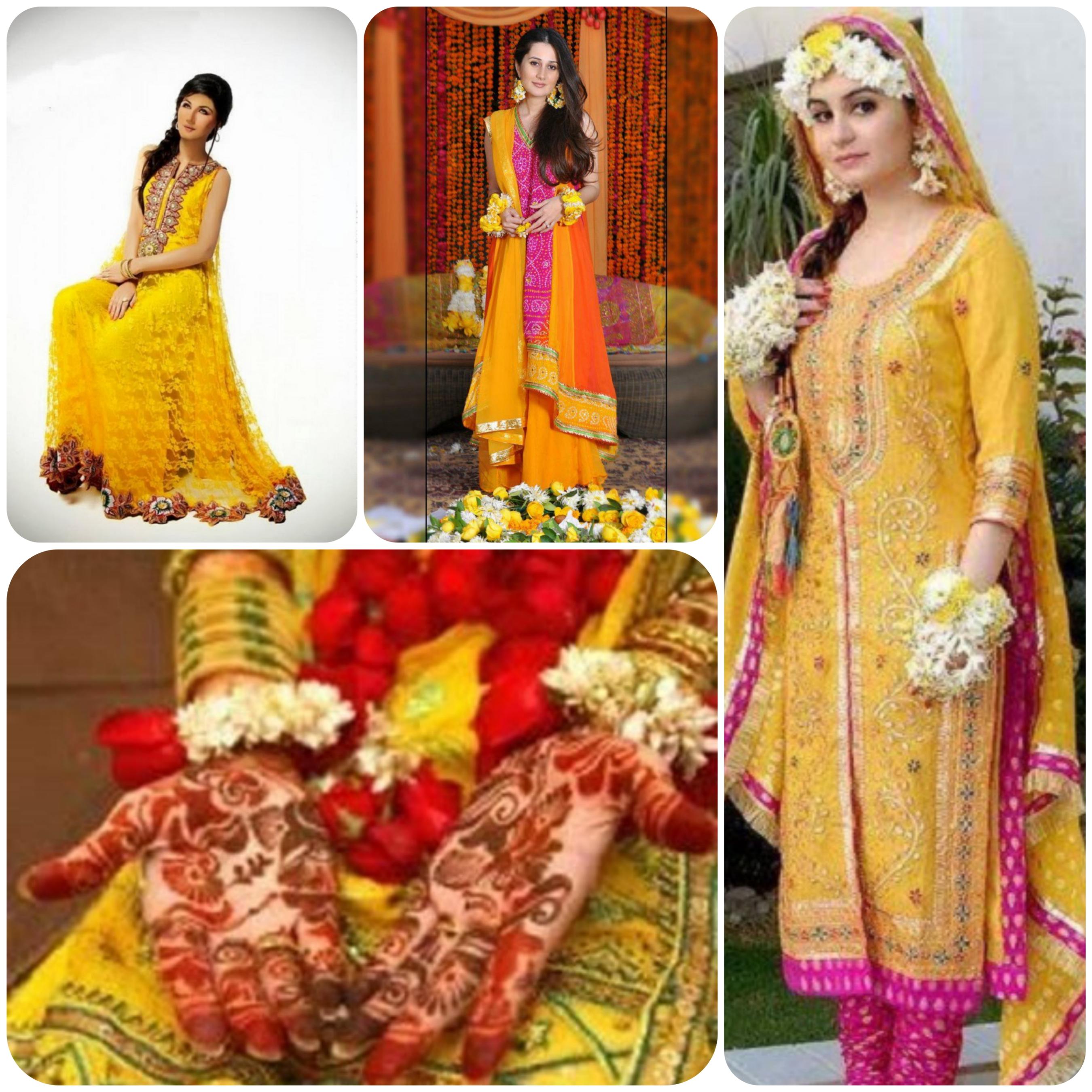 Mehndi Dresses for Brides