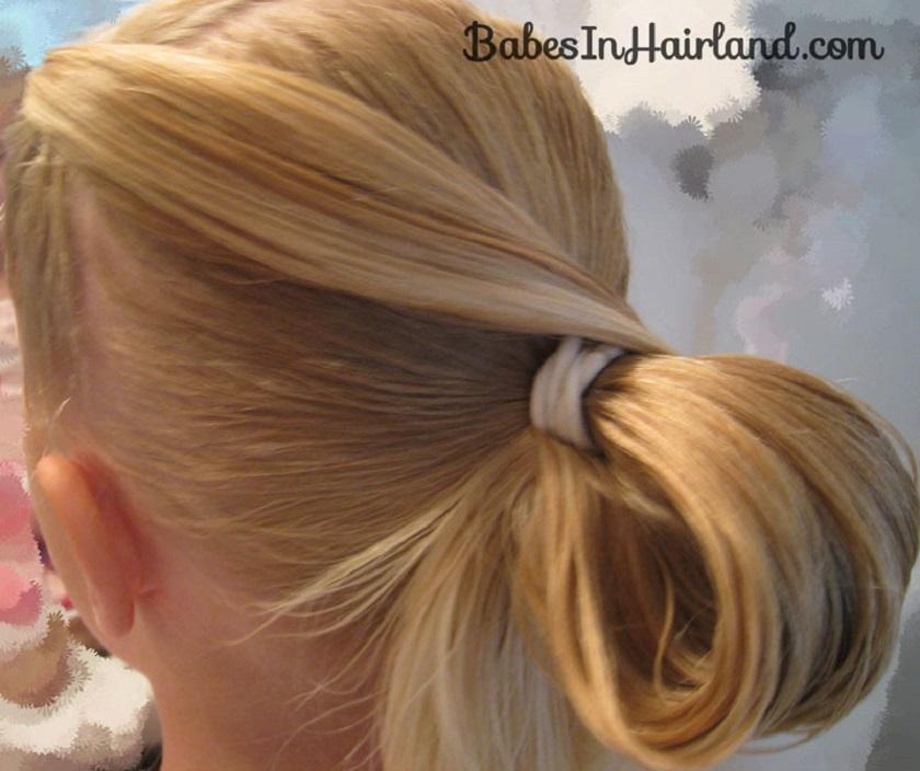 Messy bun ponytail